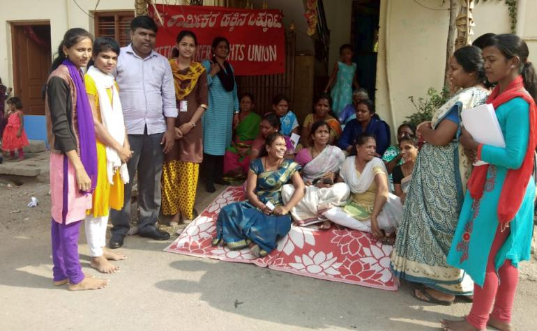 Meeting of domestic workers unionists in Indica.