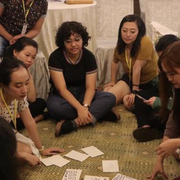 """Participantes del encuentro """"Imaginar una internet feminista en el Sudeste Asiát"""