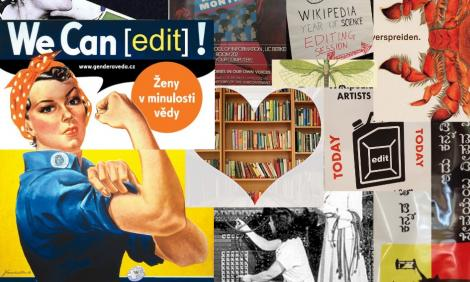 Collage of editathon posters