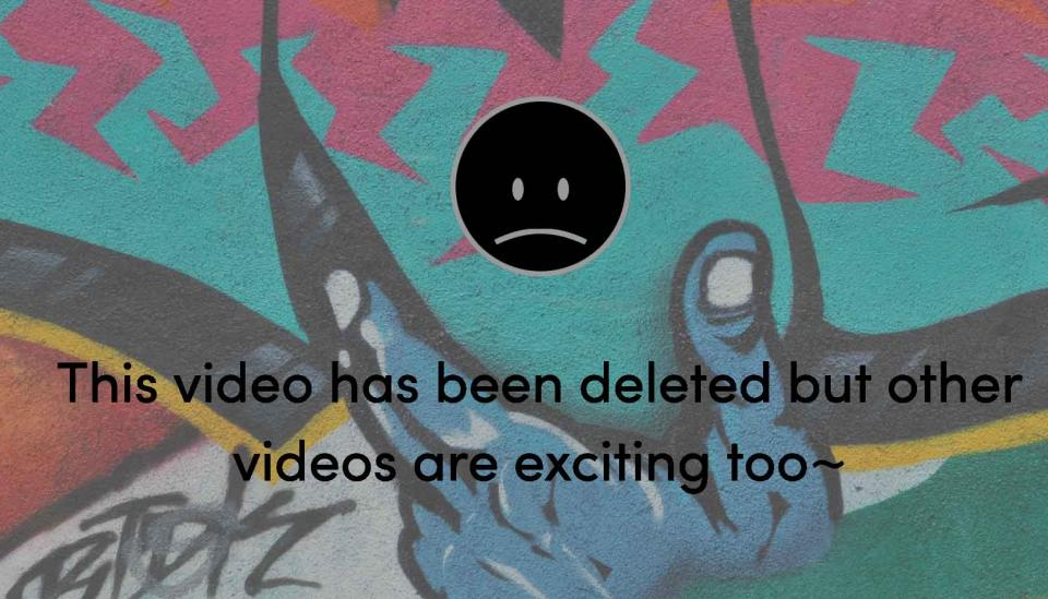 """Image description: """"This video has been deleted but other videos are exciting too."""""""