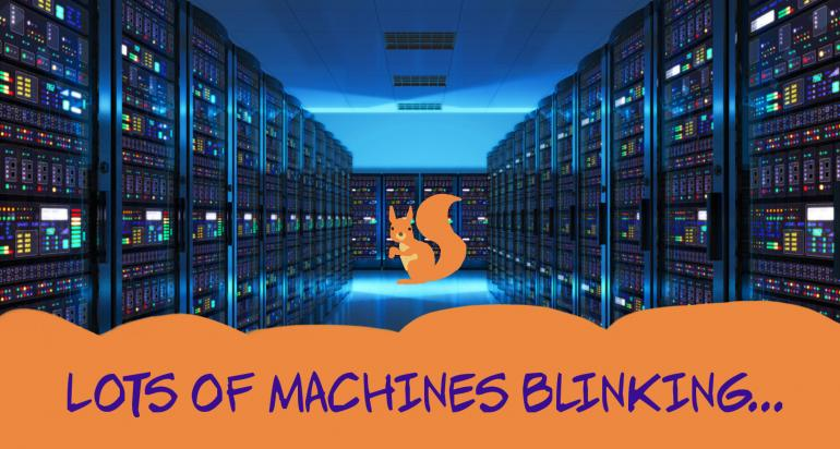 Lots of machines blinking