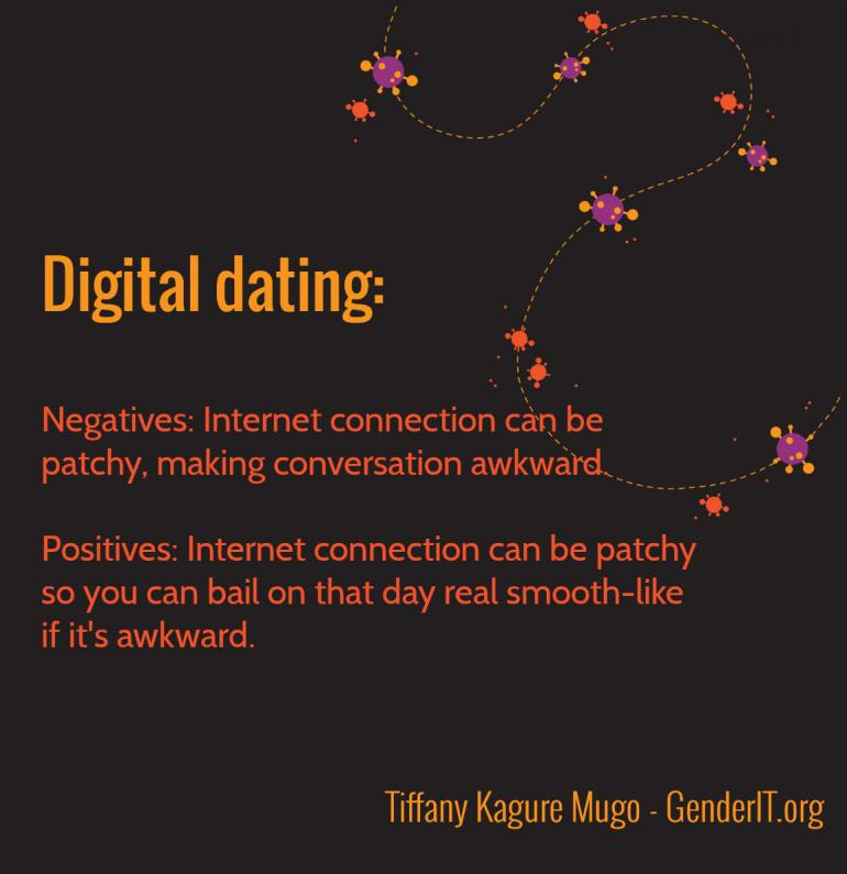 Negatives and positives of digital dating